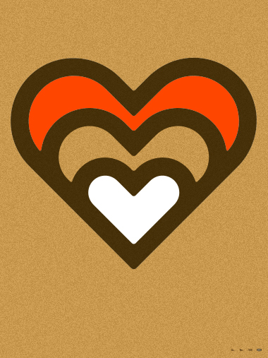 draplin design co ddc 205 gold expanding heart poster