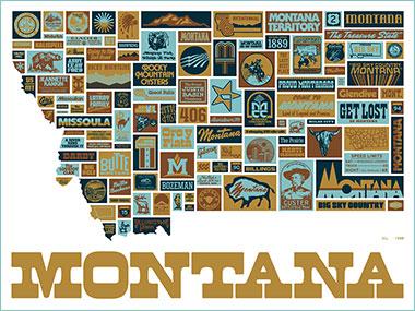 Draplin Design Co Ddc 085 Quot Maximum Montana Quot Poster